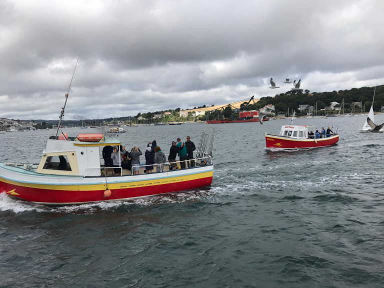 Two of our fishing vessels on the River Fal