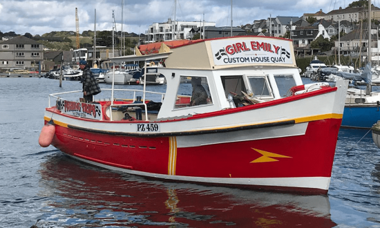 Our fishing boat Girl Emily, sailing from Falmouth
