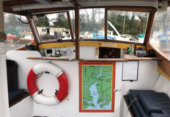 The cabin of one of our boats